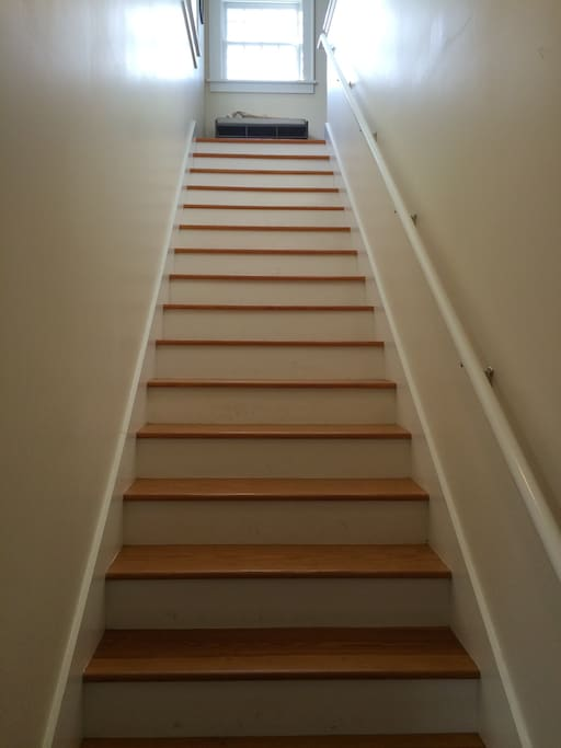 Stairs up to the apartment.