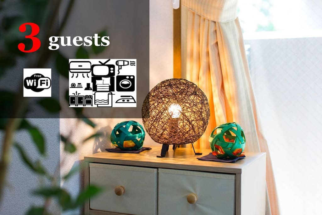 Max 3 guests