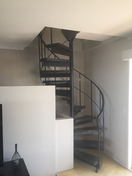 Stairs to Attic Guest Room , can accommodate a Footie team