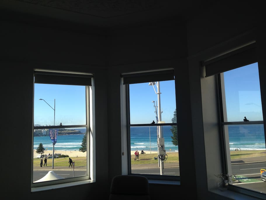 Right in the heart of Bondi, 360 beach views from living room.