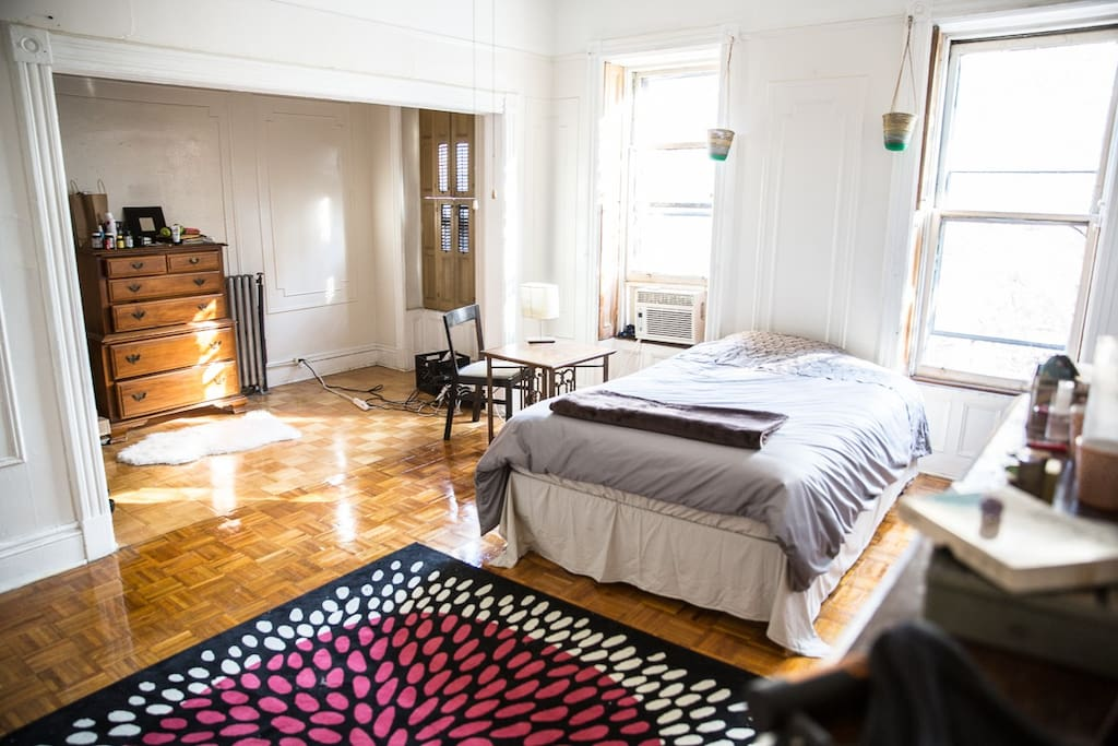 Deluxe master bedroom is spacious and inviting.