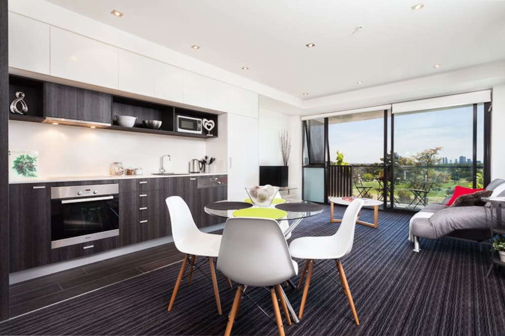 Open plan living and dining leading out to the most amazing view and entertainers balcony