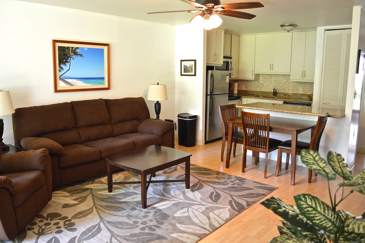 The condo is newly remodeled and has new furnishings and appliances.