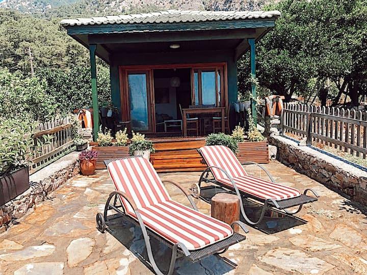 Wooden Summer Beach House in Akyaka