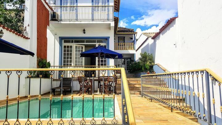 São João - Mansão histórica c/ piscina e churrasco