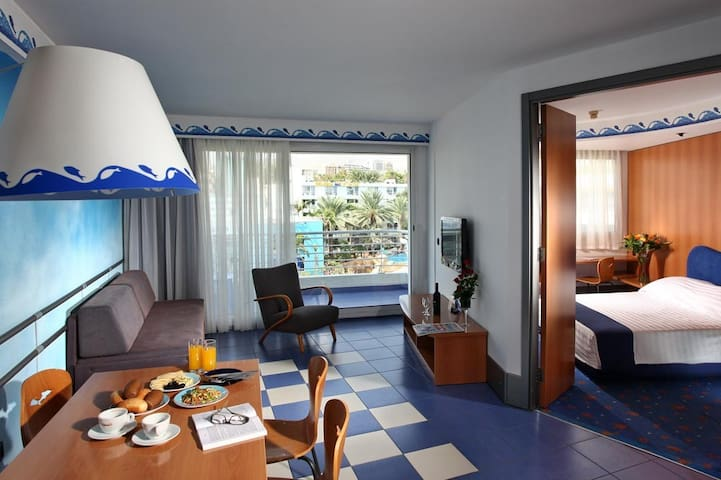 In Club Hotel Eilat 2 min to beach - 埃拉特 - 公寓