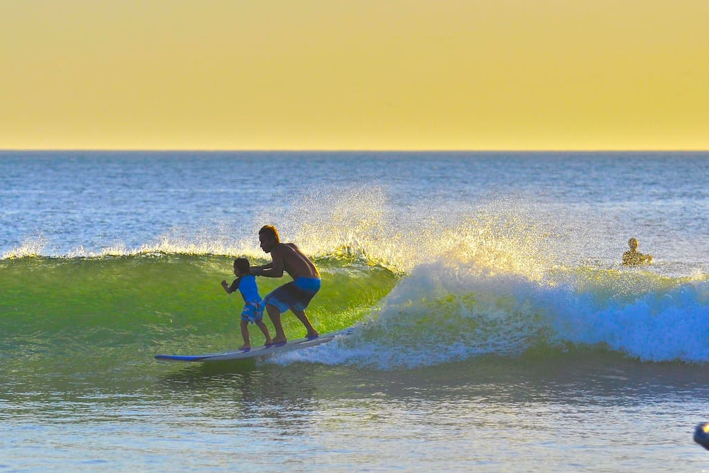 Playa Grande- surfing paradise for all skill levels.