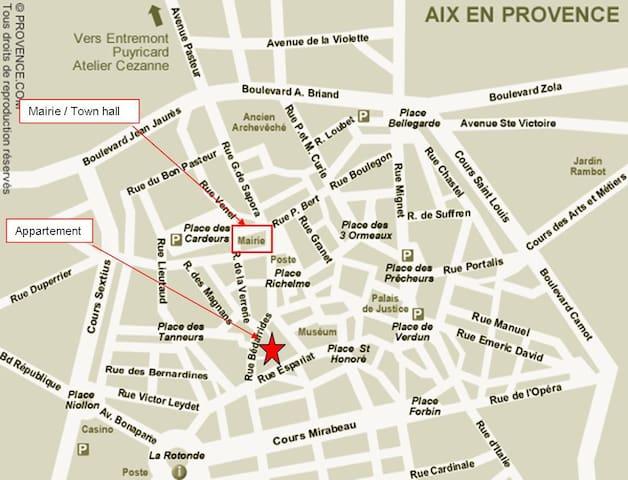 Au coeur du centre historique d'AIX EN PROVENCE