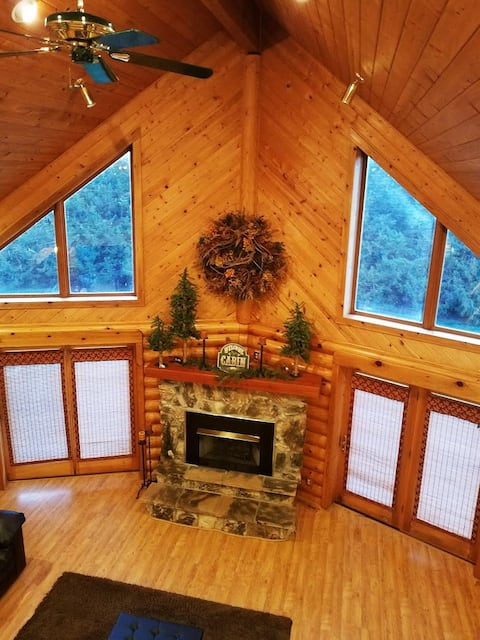 Log-style cabin home