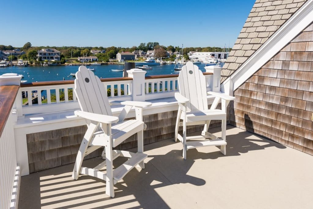 roof deck Falmouth harbor view