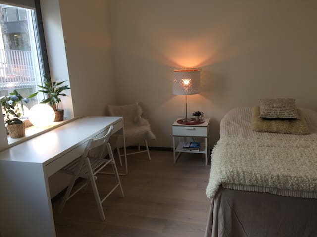 Nice room in Nydalen with minifridge, shared bath