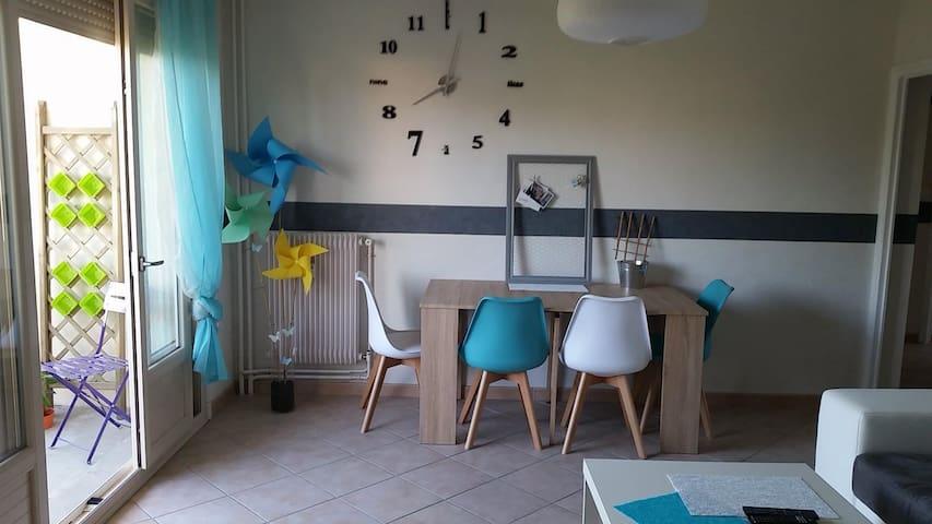 Appartement 60m2 calme et proche de la ville - Roanne - Leilighet