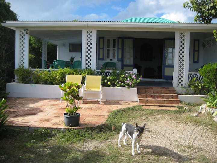 Charming West Indian Cottage,VIEWS! AC in bedroom