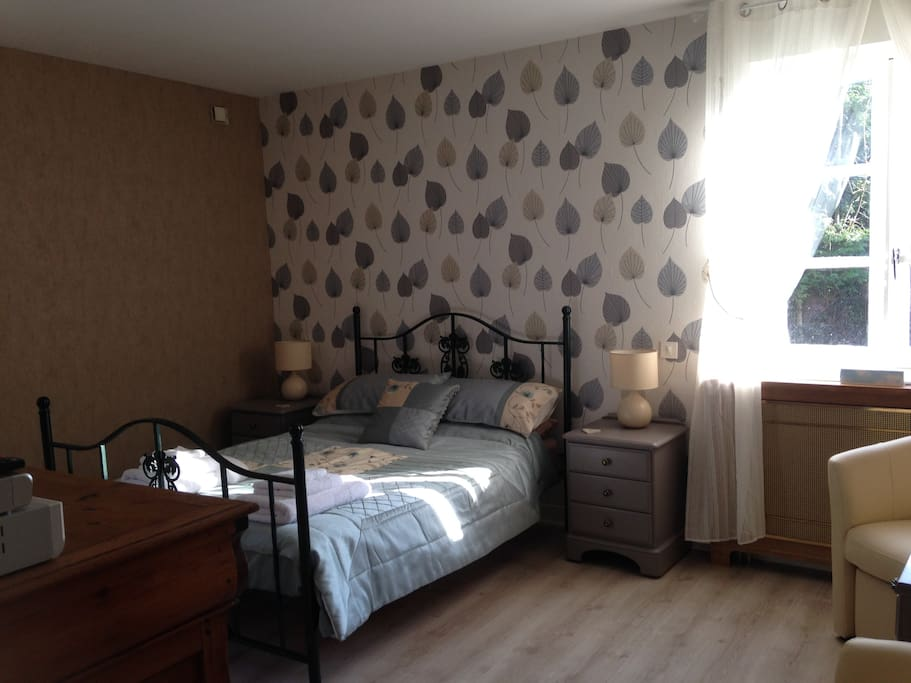 Our double room is light and airy.