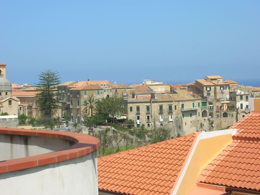 panorama dal terrazzo di casa centro storico