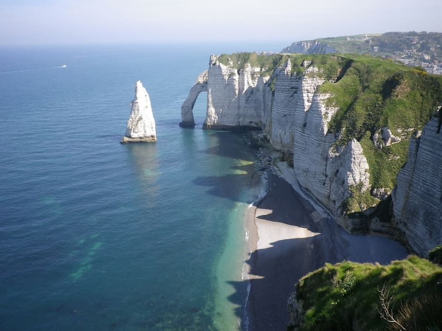 The amazing cliffs and needle of Etretat are close by.  You can walk, cycle or drive.