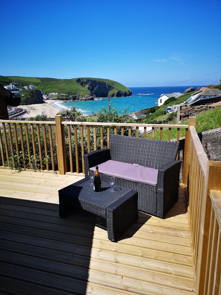 Enjoy a glass of wine in the Cornish sunshine.
