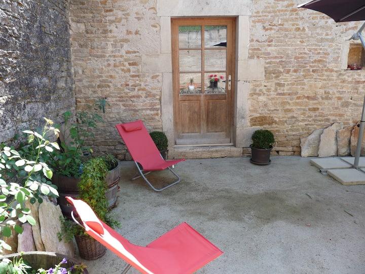 maison dans un village viticole