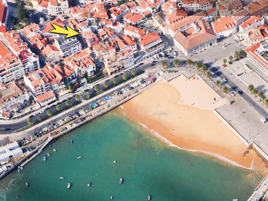 Aerial view - Cascais historic centrer - great location !!!
