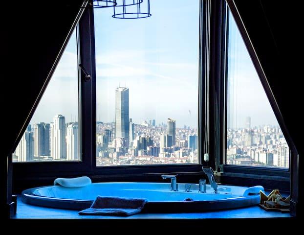 Cityloft 161, Corner Suite With Jacuzzi /Ataşehir
