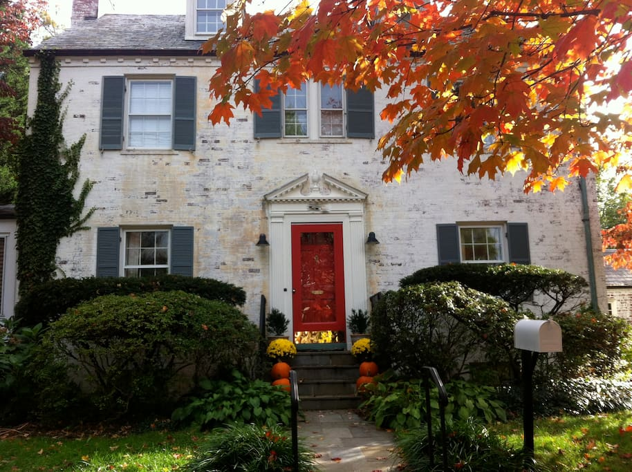 Beautiful house in a beautiful neighborhood!  View in the fall. Plenty of street parking available.