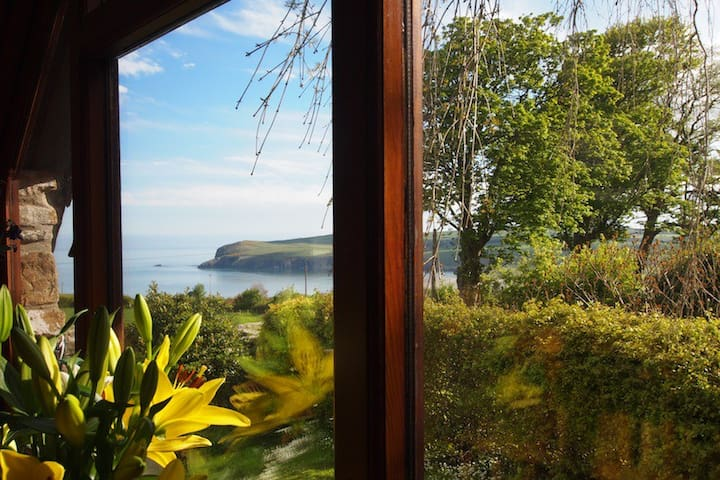 View of the Sea from inside the Cottage