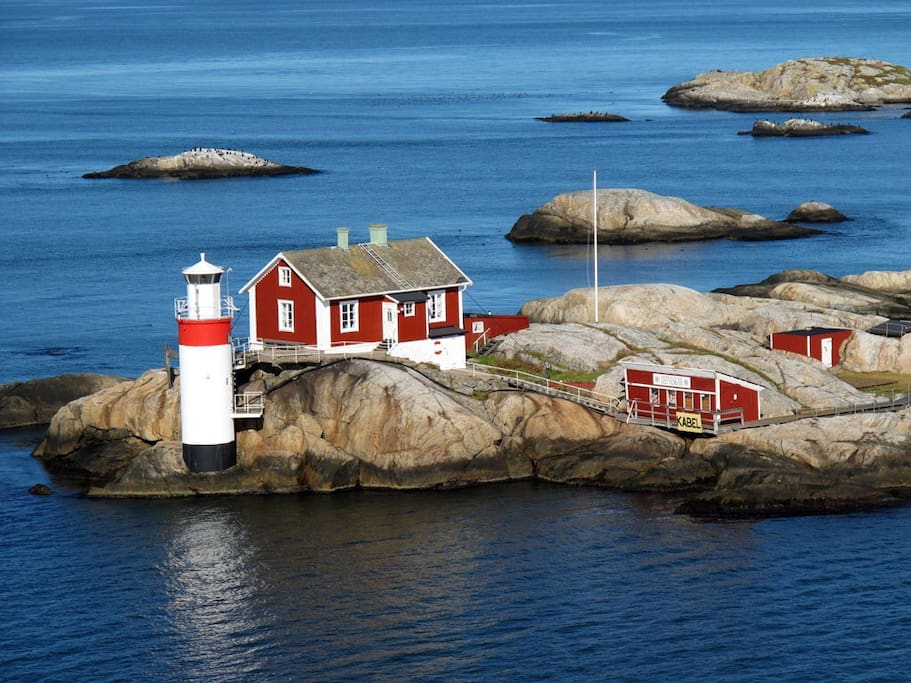 Archipelago of Gothenburg, enjoy Swedish summer. Take ferries out of Saltholmen during your stay to explore the spectacular islands surrounding our coastline. Here lighthouse of entrance to city of Gothenburg