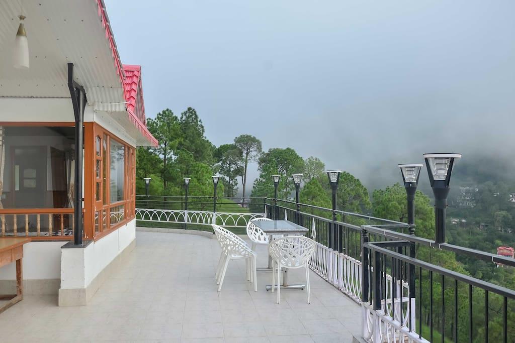 Wild winds villa pine forest open private terrace villas for Terrace 6 indore address