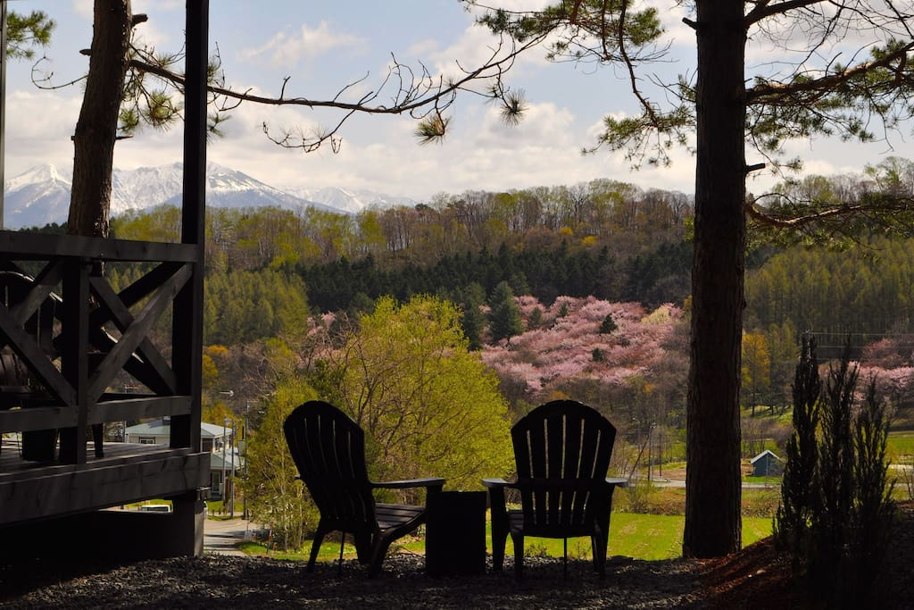 Enjoy spectacular views from our unique, elevated position above farmlands and forest and nestled at the foot of Furano's ski mountain.