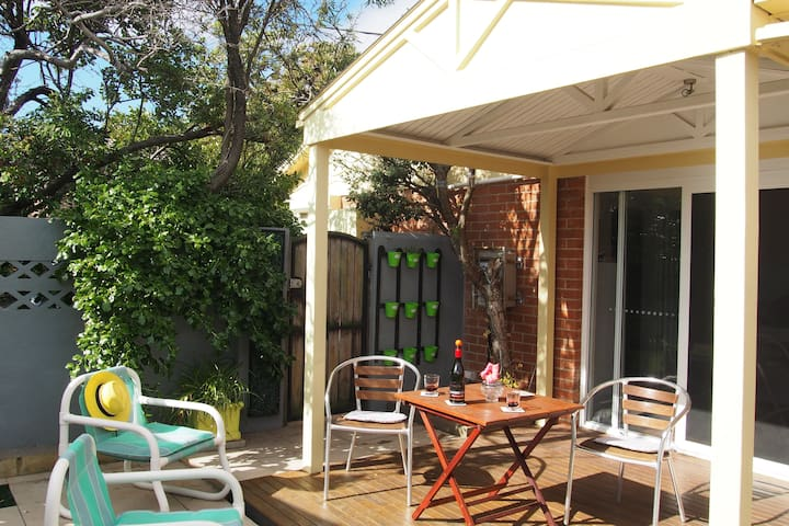Wake up across the road from the beach!