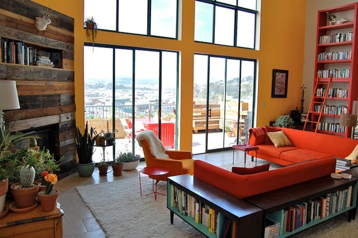 Large Room in Huge Designer Loft with Awesome View - San Francisco - Loft