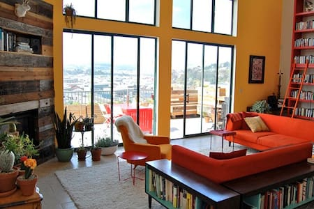 Large Room in Huge Designer Loft with Awesome View - San Francisco - Loft