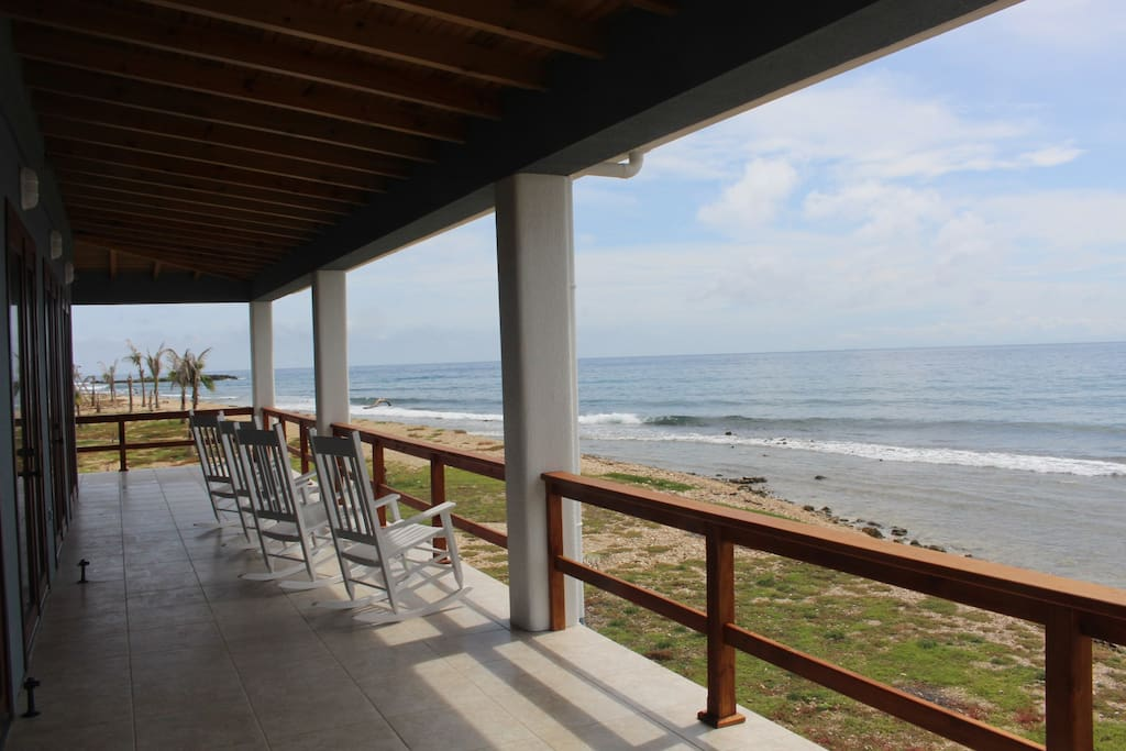 Front deck looking towards Roatan  https://www.facebook.com/CoralRidgeHouse