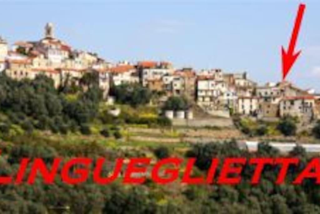 Ligurien-Ferienhaus in Lingueglietta, 5km zum Meer.