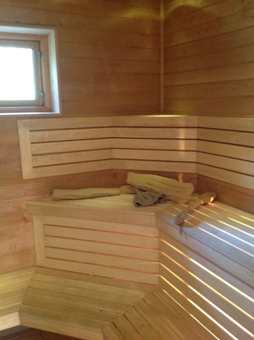 Sauna is included.
