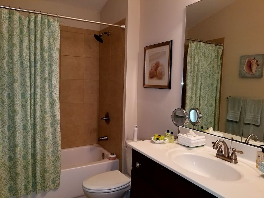 Private Full Bathroom next to Bedroom