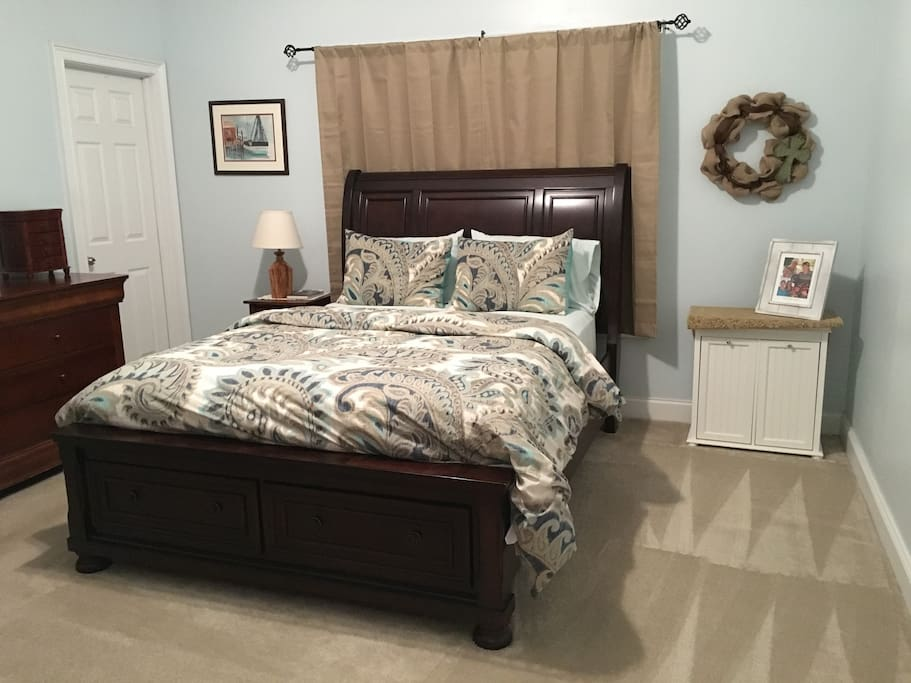 The master bedroom is located on the ground floor.