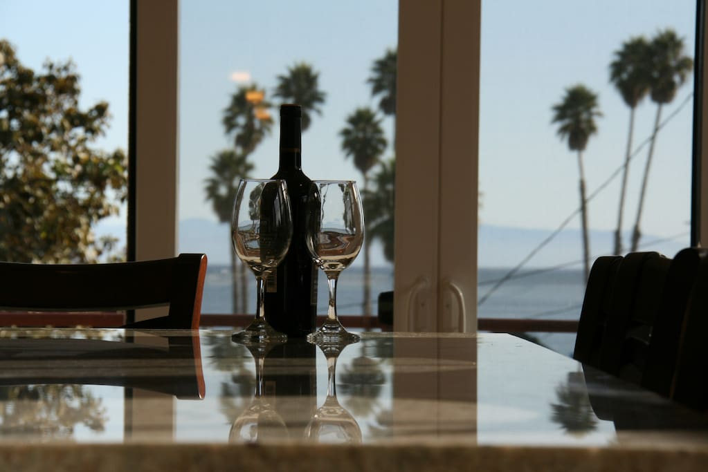 View of bay and hills of Monterey from your Kitchen