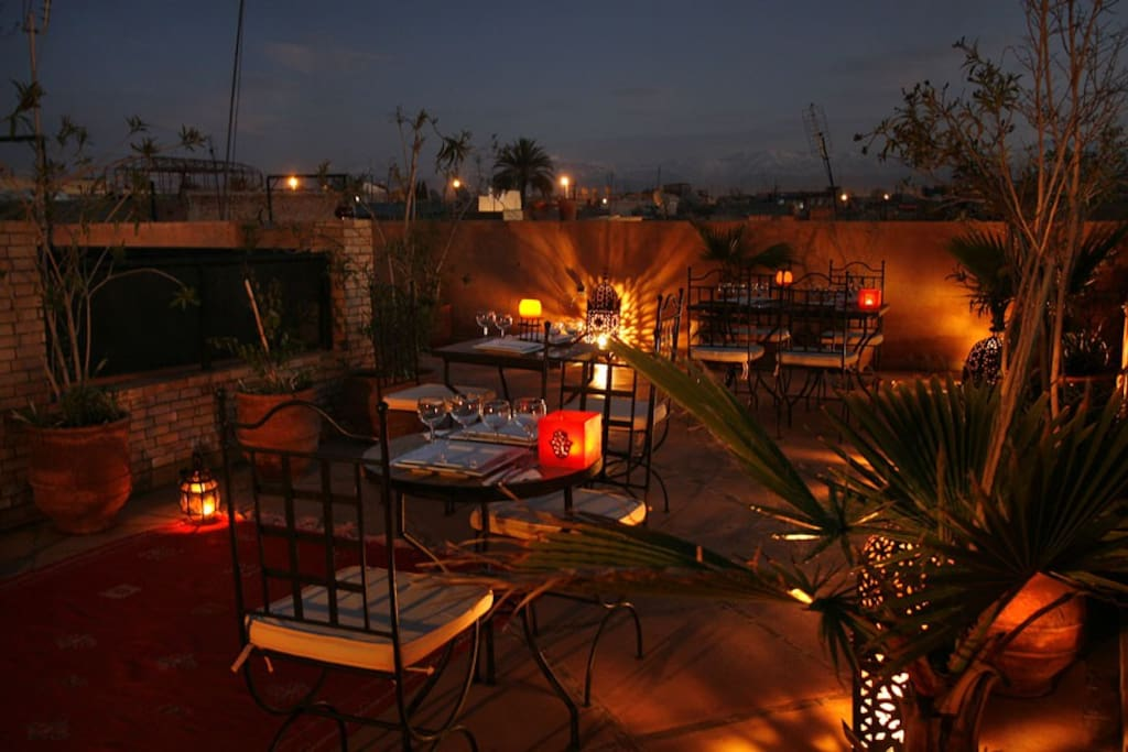 Terrasse de nuit - Terrace by night