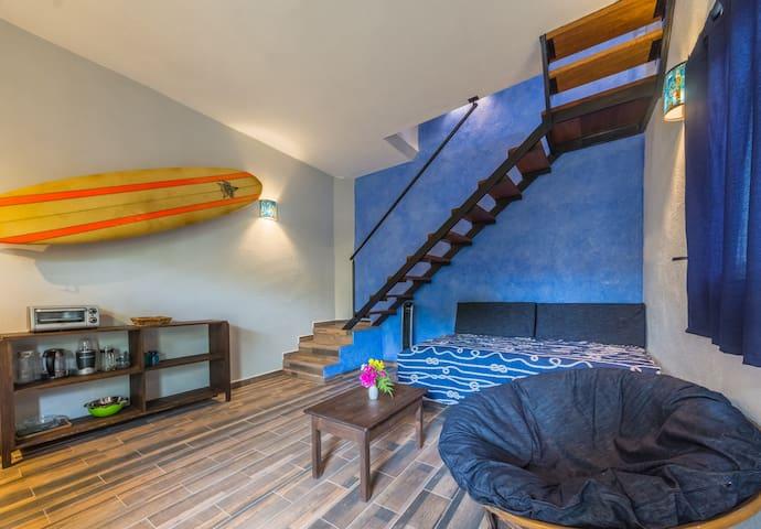1 Sweeeet Surf Den for 4 people @ Nook Azul