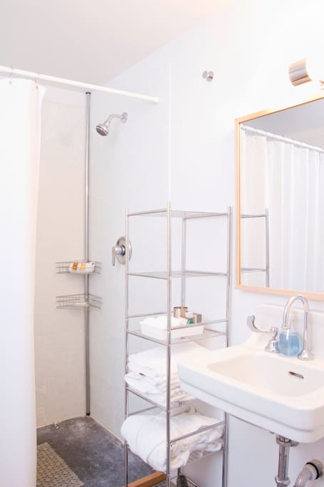 Bathroom with double shower