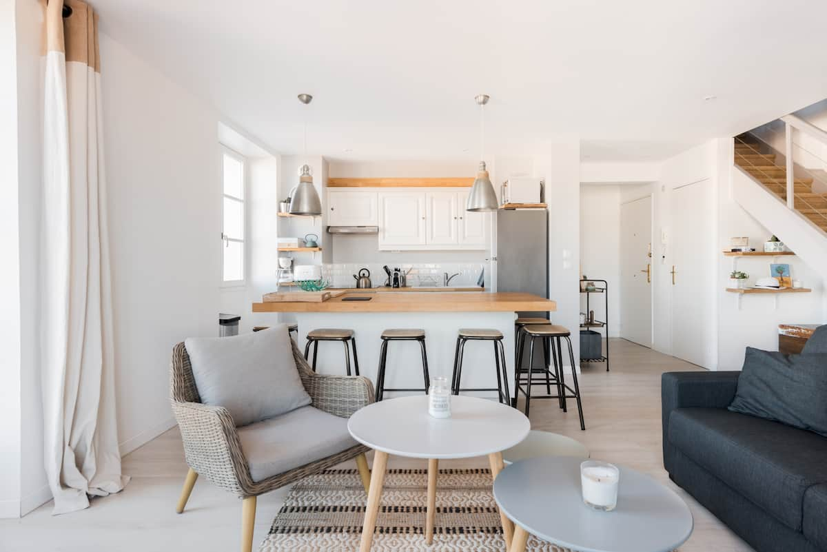 Head to the Sea from a Sleek Duplex in Nice's Old Town
