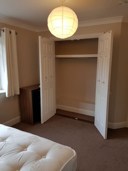 Fitted Wardrobes, cupboards, and drawers. 4 addtional under bed drawers too!