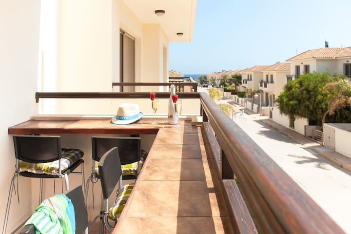 Polyxenia James luxury beach side apartment