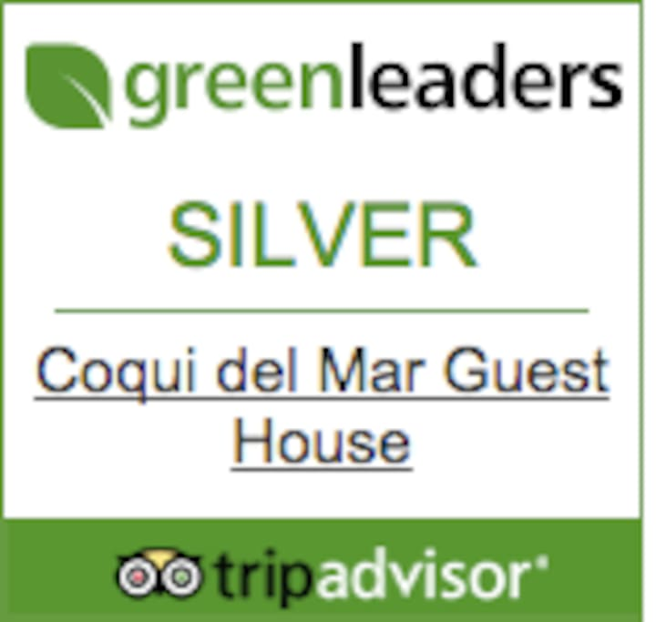 We are committed to the environment and are recognized as a Green Leader by Trip Advisor