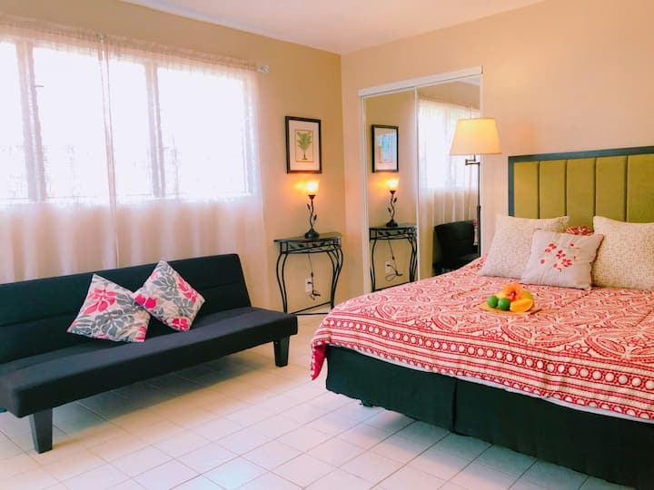 Private studio apartment in Kona with Queen bed.