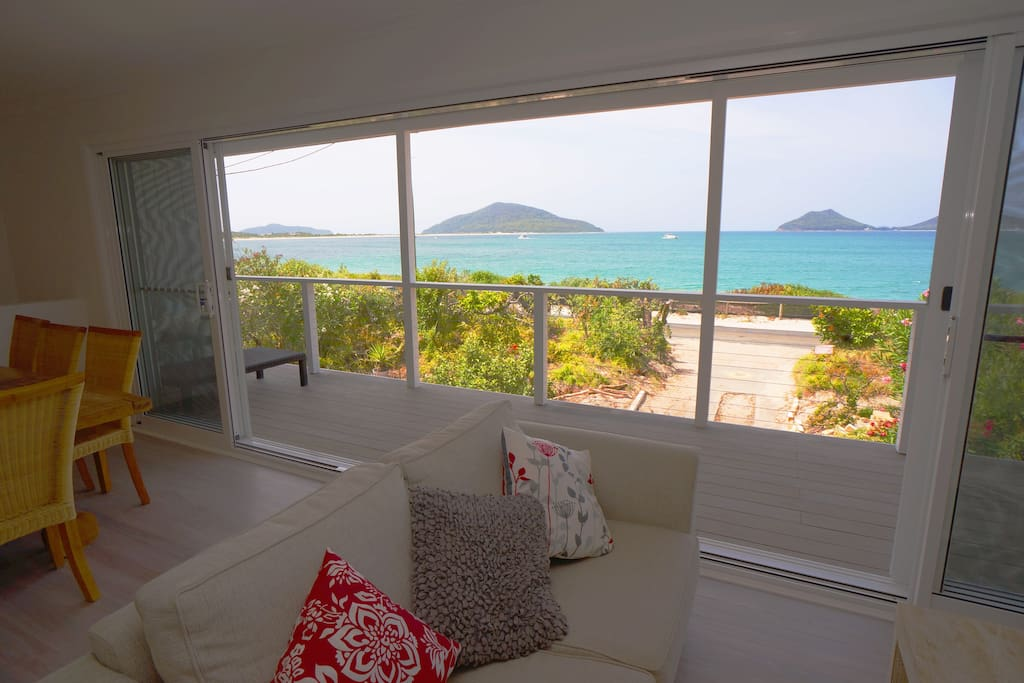 sensational beach views from living areas and deck