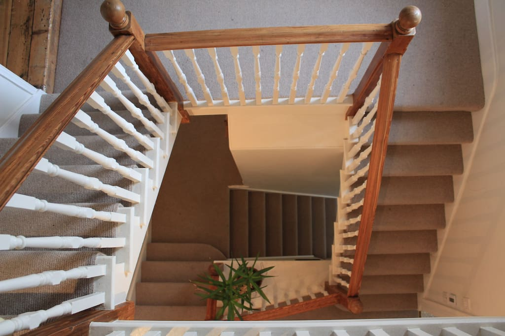 Central staircase - the apartment is spread across three floors