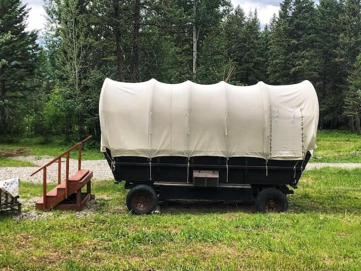 Traditional Prairie Schooner Wagon