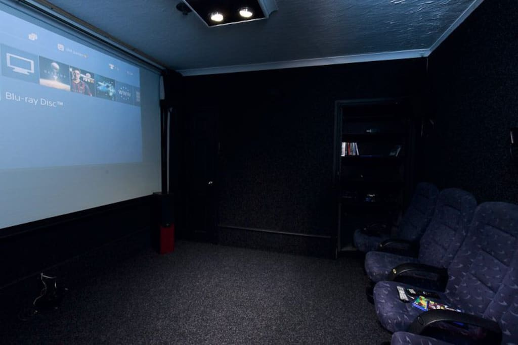 Full cinema room with ps4 and SKYhd with all sports and movies